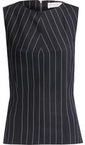 Amanda Wakeley Pinstriped Sretch-Wool Twill Top