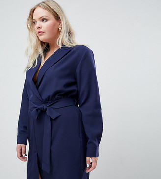 Unique21 Hero Unique 21 Hero tailored belted wrap dress