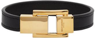 Saint Laurent Black Carre Bracelet
