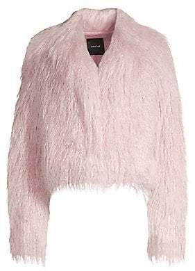 Smythe Women's Faux Shearling Cropped Jacket