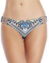 Red Carter Feather Side Strap Bikini Bottom