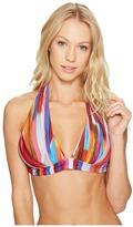 Athena Kaliedostripe Kalena Halter Bikini Top Women's Swimwear