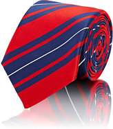 Barneys New York MEN'S STRIPED NECKTIE-RED