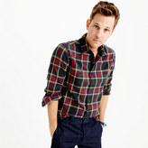 J.Crew Tall midweight flannel shirt in black-and-red tartan