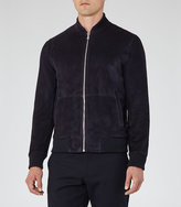 Reiss Sussex Suede Bomber Jacket