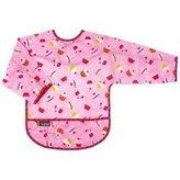 Kushies KushiesTaffeta Waterproof Bibs with Sleeves - Toddler - Cupcakes Pink
