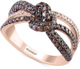 Effy Espresso by Diamond Knot Ring (1-1/10 ct. t.w.) in 14k Rose Gold