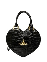 Vivienne Westwood Croco Print Faux Leather Heart Bag