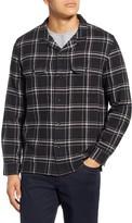 Baldwin Guetes Regular Fit Plaid Button-Up Flannel Overshirt