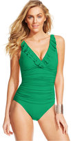 Lauren Ralph Lauren Ruffled One-Piece Swimsuit