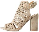 Charlotte Russe Qupid Eyelet Laser Cut Sandals