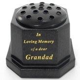 directfloristsupplies Black topped In loving memory of a dear Grandad memorial pot/grave vase