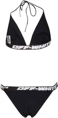 Off-White Logo Trim Two-Piece Bikini