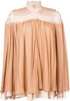 Jonathan Simkhai lace detail gathered blouse