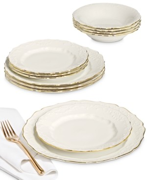Hotel Collection Classic Foulard 12-Pc. Dinnerware Set, Service for 4, Created for Macy's