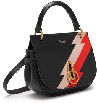 Mulberry Small Amberley Satchel Black Multi-Colour Flash
