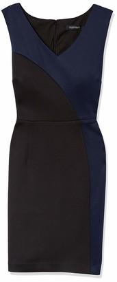 Ellen Tracy Women's Petite Scuba Black Navy Dress 8P