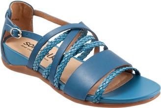 SoftWalk Leather Crisscrossing Band Sandals - Tula