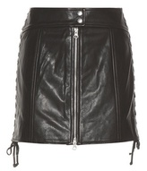 McQ by Alexander McQueen Embellished leather skirt