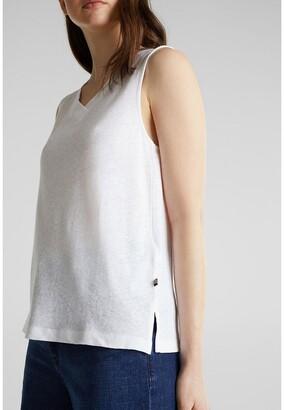 Esprit Cotton Mix Vest Top with V-Neck