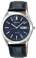 Seiko Mens Solar Blue Dial Watch