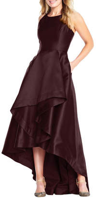 Adrianna Papell Mikado High Low Gown