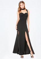 Bebe Mock Neck Cutout Gown