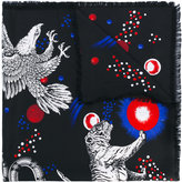 Gucci Space Animals print scarf - men - Silk - One Size