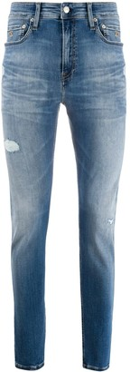 Calvin Klein Jeans Slim-Fit Distressed Denim Jeans