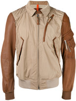 Parajumpers Sergeant bi-texture jacket - men - Leather/Polyester - L