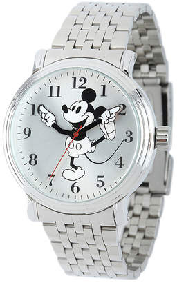 Character Disney Mickey Mouse Mens Stainless Steel Vintage-Style Watch