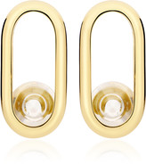 Yael Sonia Spinning Top 18K Gold And Quartz Earrings