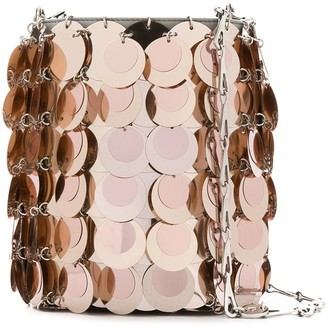 Paco Rabanne Large Sequin Bucket Bag