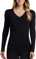 Cuddl Duds Softwear Long-Sleeve V-Neck Shirt