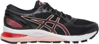 Asics GEL-Nimbus 21 Running Shoes - Black / Laser Pink