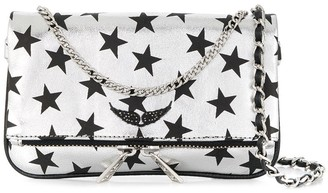 Zadig & Voltaire Rock Nano Circus star print clutch bag