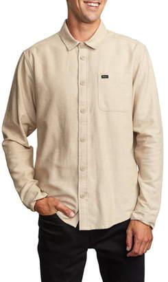 RVCA Sand Button-Up Flannel Shirt