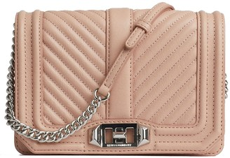 Rebecca Minkoff Chevron Quilted Small Leather Love Crossbody