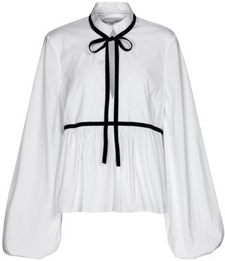 Caroline Constas Lynn stretch cotton-blend blouse