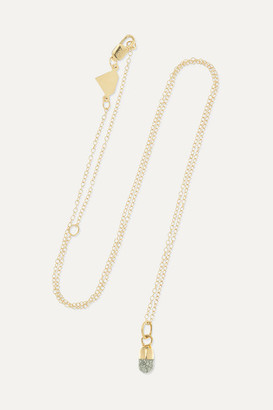 Alison Lou Pill 14-karat Gold And Glittered Enamel Necklace - one size
