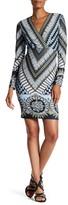 Hale Bob Long Sleeve V-Neck Dress