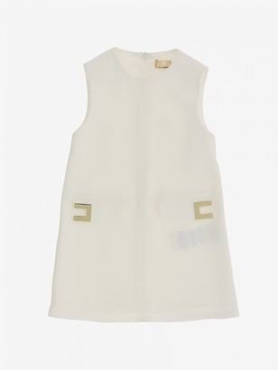 Elisabetta Franchi Dress With Metallic Logo