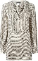 Sportmax draped neck striped blouse