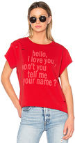 Etienne Marcel Hello, I Love You Tee in Red