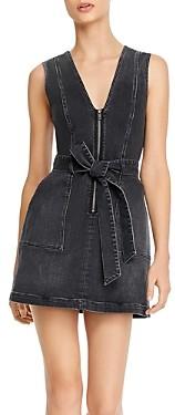 Alice + Olivia Gorgeous Zip-Front Denim Mini Dress