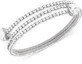 Swarovski Twisty Silver-Tone Crystal Triangle Bangle Bracelet