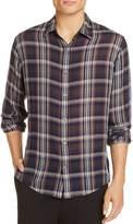 Vince Double-Face Plaid Slim Fit Button-Down Shirt
