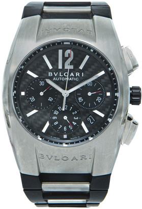 Bvlgari Black Stainless Steel Ergon Rubber Men's Watch 35MM