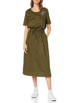 Love Moschino Women's Airplane Patch_Short Sleeve Dress