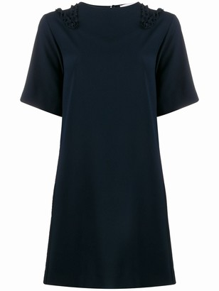 See by Chloe Ruffle-Trimmed Crepe Shift Dress